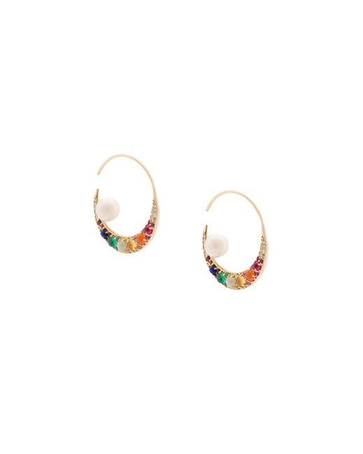 Noor Fares | Multicolor Navratna Earrings | Lyst