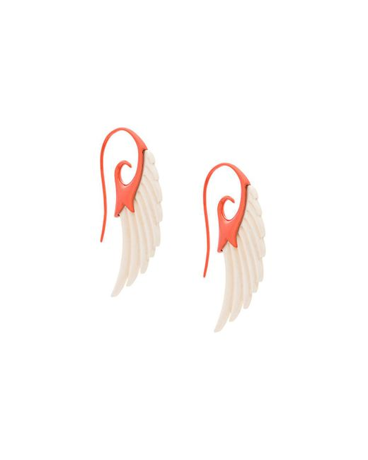 Noor Fares - Multicolor Fly Me To The Moon Wing Earrings - Lyst