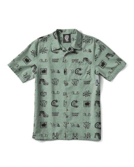 Vans   Green X Brain Dead Short Sleeve Shirt for Men   Lyst