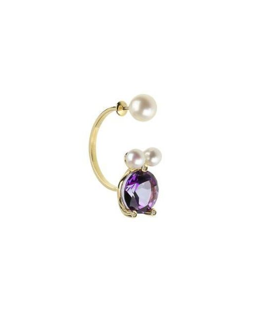 Delfina Delettrez - Multicolor Magic Puppy Piercing Earrings - Lyst