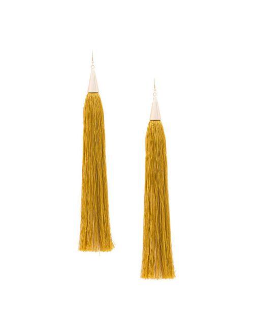 Eddie Borgo - Multicolor Long Tassel Earrings - Lyst