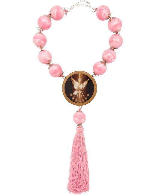 Neith Nyer - Pink Angel Pendant Necklace - Lyst