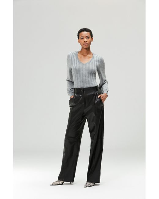 VEDA - Bess Leather Trouser Black - Lyst