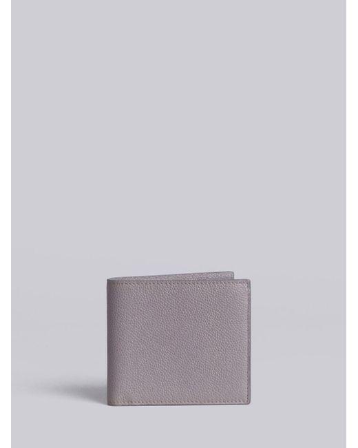 42c4d1720eda Thom Browne - Gray Billfold Wallet In Grey Pebble Grain for Men - Lyst ...