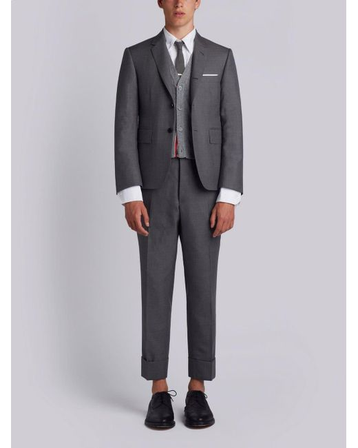 Thom Browne - Gray Super 120s Suit With Tie for Men - Lyst