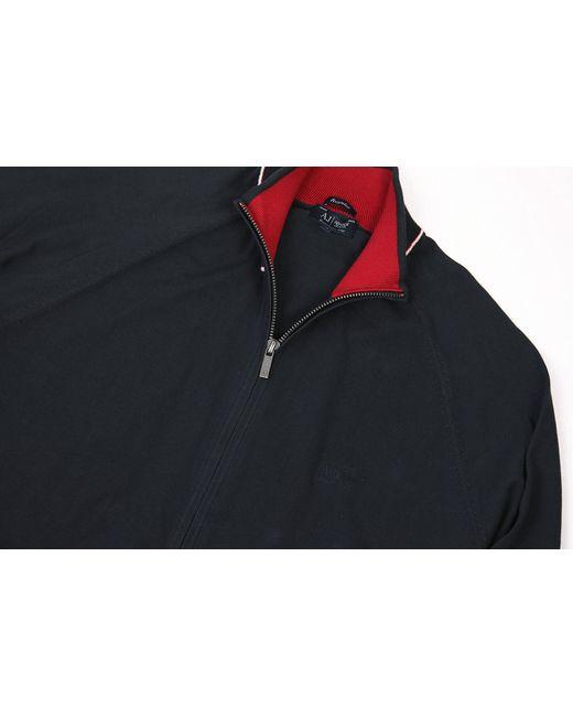 Armani Jeans - Blue Navy Zip Knit Jumper for Men - Lyst