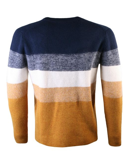 KENZO - Blue Striped Wool Jumper Multi for Men - Lyst