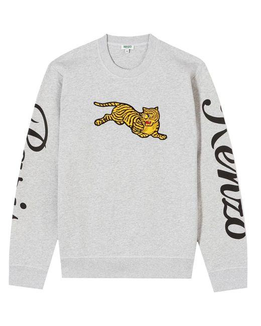 "KENZO - Gray Grey ""jumping Tiger"" Sweatshirt for Men - Lyst"