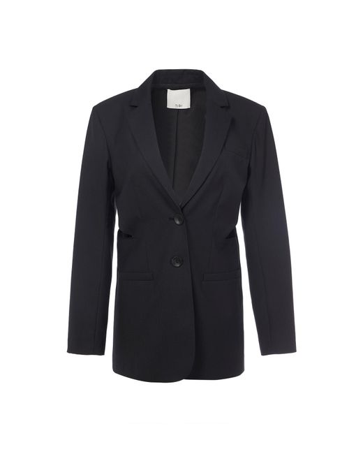 Tibi - Black Serge Suiting Cut Out Blazer - Lyst