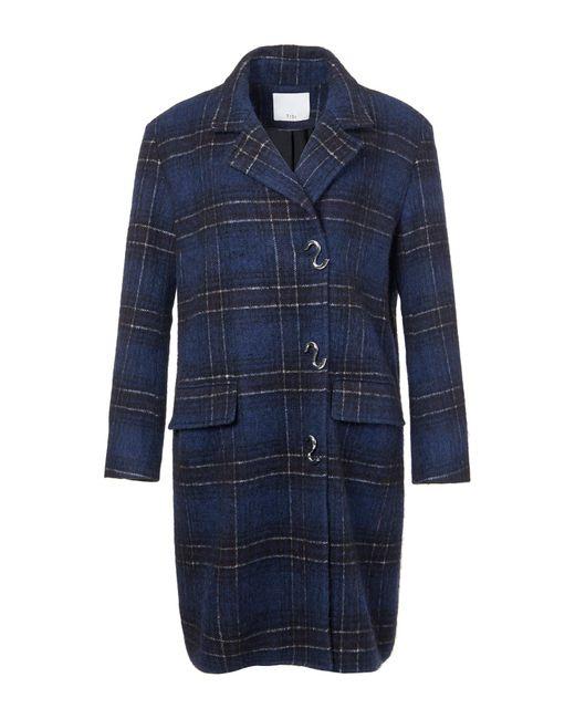 Tibi | Blue Dominic Plaid Oversized Coat | Lyst