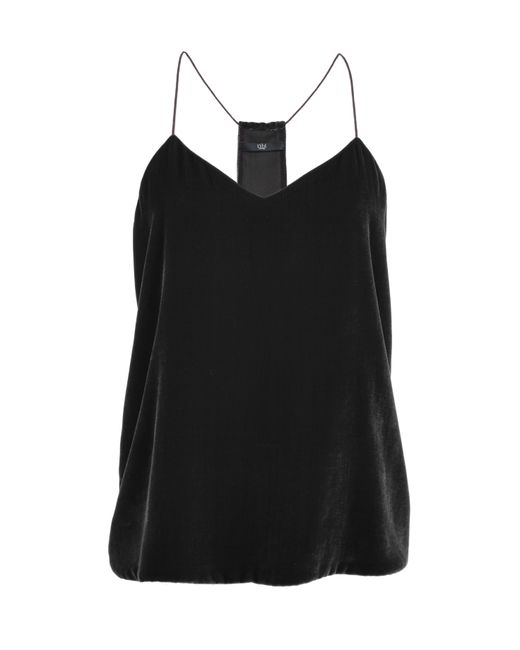 Tibi | Silk Velvet Cami In Black | Lyst