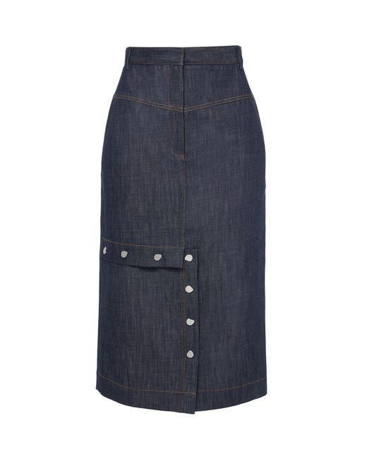 Tibi - Blue Raw Denim Jamie Skirt - Lyst