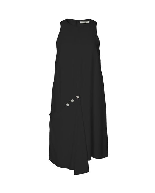 Tibi - Black Sleeveless Asymmetrical Flap Shift Dress - Lyst