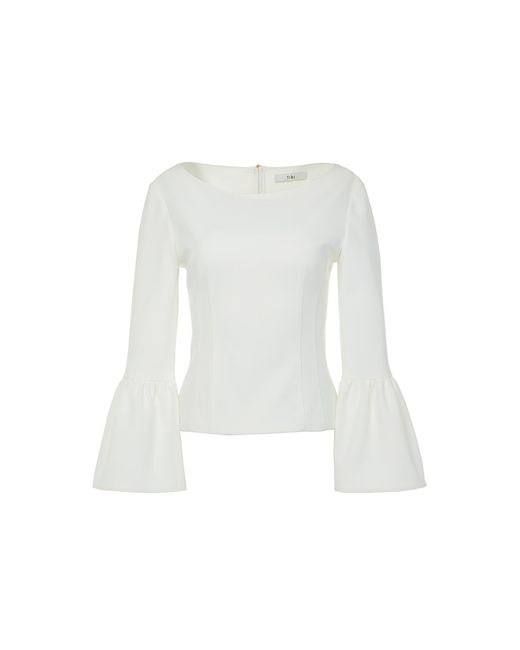 Tibi - White Structured Crepe Corset Top - Lyst