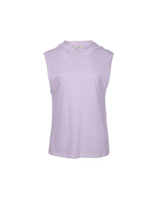 Tibi - Purple Hooded Muscle Tee - Lyst