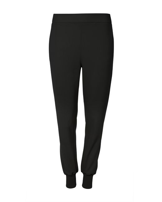 Tibi - Black Structured Crepe Pull On Jogger - Lyst
