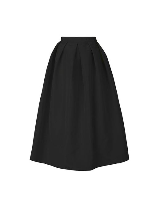 Tibi - Black Silk Faille Full Skirt - Lyst