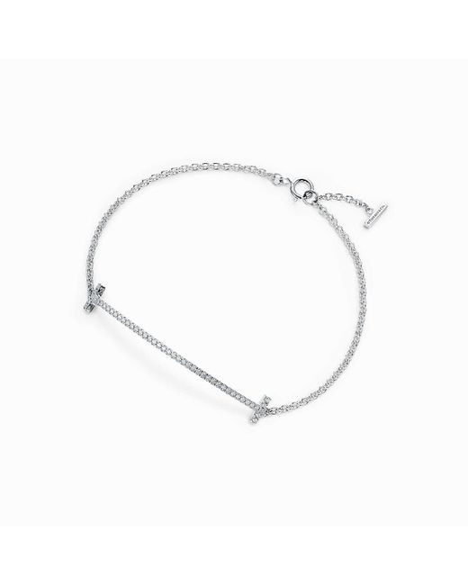 Tiffany & Co - White Smile Bracelet - Lyst