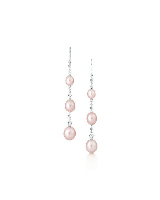 Tiffany & Co | Metallic Pearls By The Yardtm Graduated Earrings | Lyst