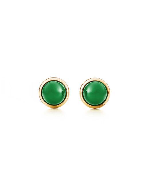 Tiffany & Co | Metallic Cabochon Earrings | Lyst