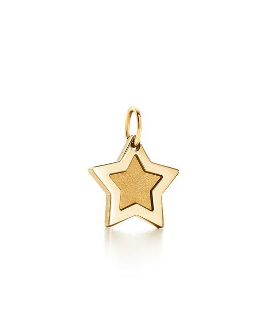 Tiffany & Co - Metallic Super Star Charm In 18k Gold - Lyst