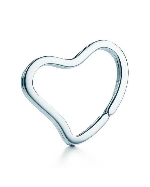 Tiffany & Co | Metallic Open Heart Key Ring | Lyst
