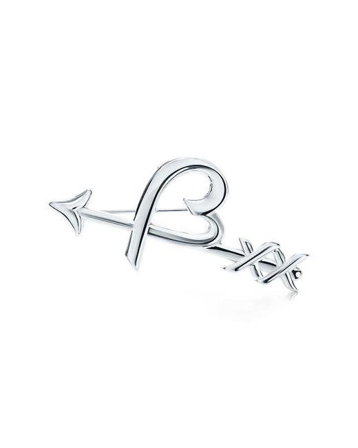 Tiffany & Co   Metallic Heart & Arrow Brooch   Lyst