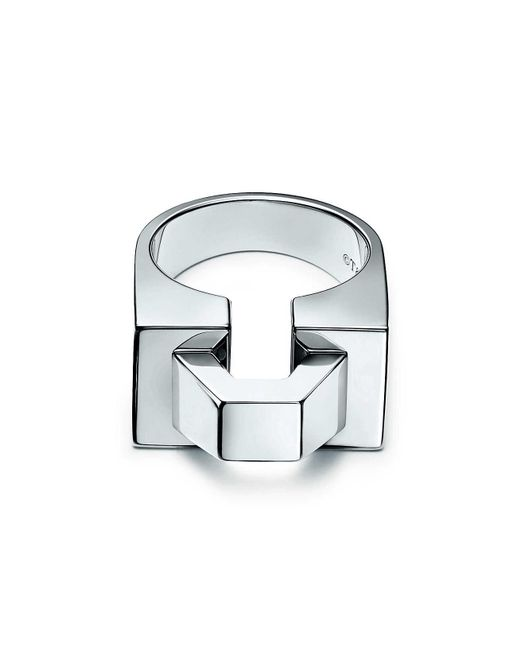 Tiffany & Co | Metallic Out Of Retirementtm Block Ring In Sterling Silver - 6 | Lyst