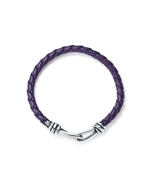 Tiffany & Co - Paloma Picasso. Knot Single Braid Bracelet Of Purple Leather And Silver, Medium - Lyst