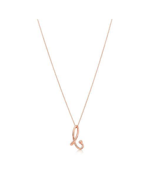 "Tiffany & Co - Metallic Letter ""a"" Pendant - Lyst"