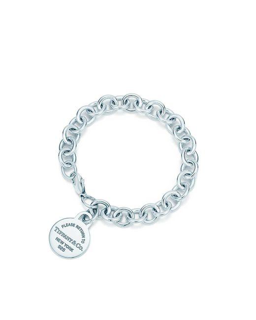 Tiffany & Co - Metallic Round Tag Bracelet - Lyst
