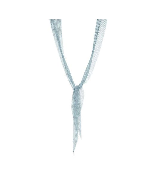 Tiffany & Co | Metallic Mesh Scarf Necklace | Lyst
