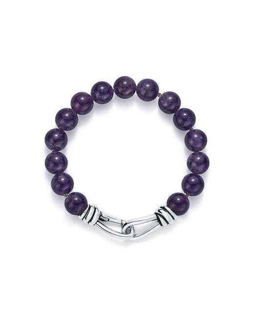 Tiffany & Co - Metallic Paloma Picasso. Knot Bead Bracelet Of Amethyst And Sterling Silver, Extra Large - Lyst