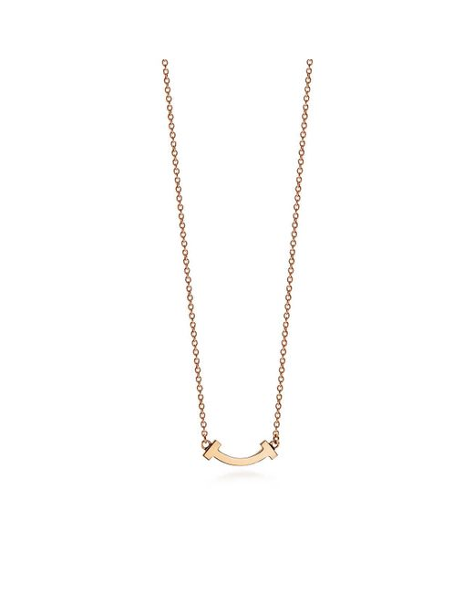 15603a7c0 Tiffany & Co - Metallic Tiffany T Smile Pendant In 18ct Rose Gold, Micro -