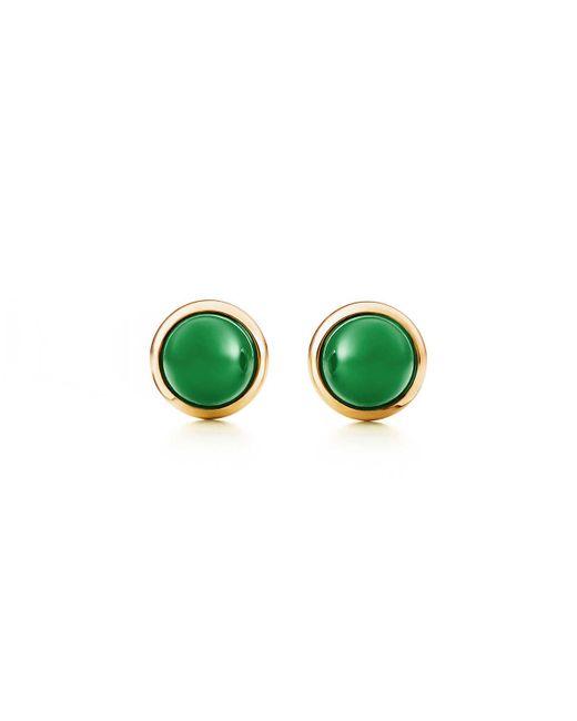 Tiffany & Co - Metallic Cabochon Earrings - Lyst