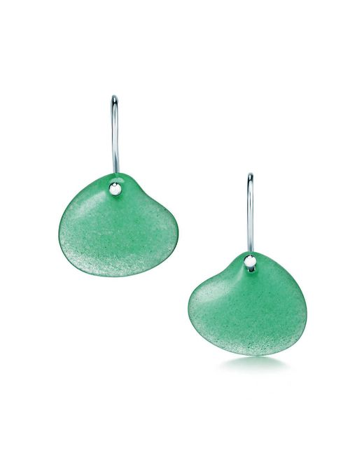 Tiffany & Co - Green Cat Island Isle Shell Earrings - Lyst
