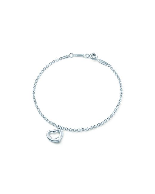 Tiffany & Co - Metallic Elsa Peretti. Open Heart Bracelet In Sterling Silver, One Size - Lyst