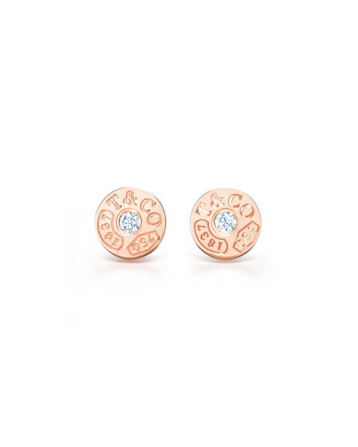 Tiffany & Co - Pink Circle Earrings - Lyst