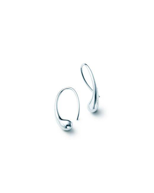 Tiffany & Co | Metallic Teardrop Earrings | Lyst