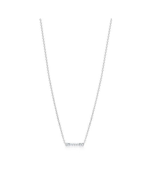 Tiffany & Co   Metallic Key Stem Pendant In Platinum With Diamonds   Lyst