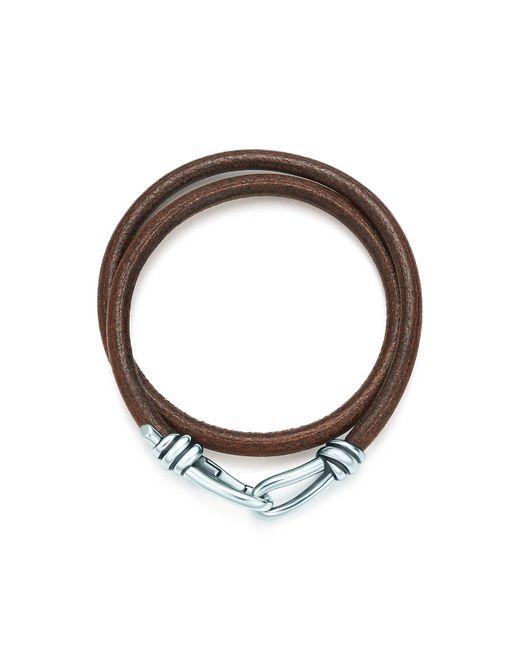 Tiffany & Co - Metallic Knot Double Braid Wrap Bracelet for Men - Lyst