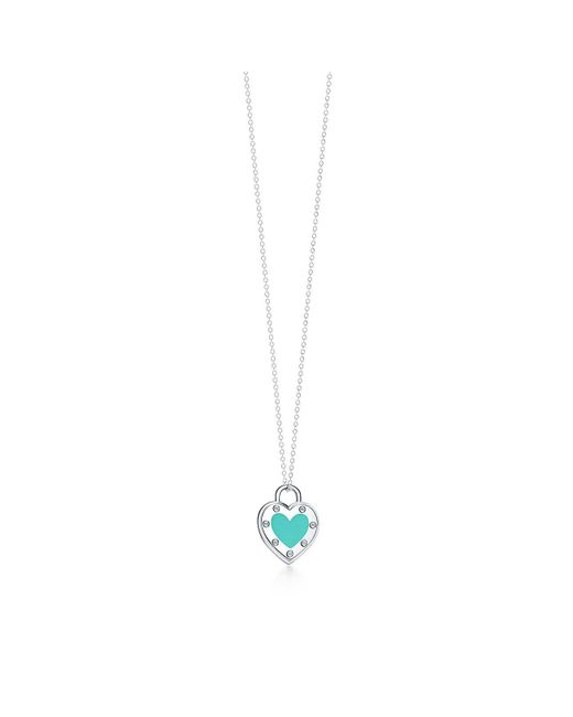 Lyst tiffany co return to tiffanytm love heart pendant in silver tiffany co metallic return to tiffanytm love heart pendant in silver with enamel finish aloadofball Image collections