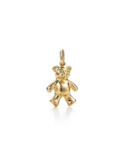 Tiffany & Co | Metallic Teddy Bear Charm In 18k Gold | Lyst