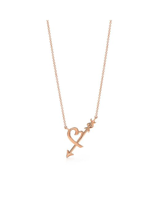 Tiffany & Co - Metallic Heart & Arrow Pendant - Lyst