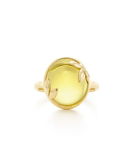 Tiffany & Co - Green Paloma Picasso. Olive Leaf Ring In 18k Gold With A Citrine - 6 - Lyst