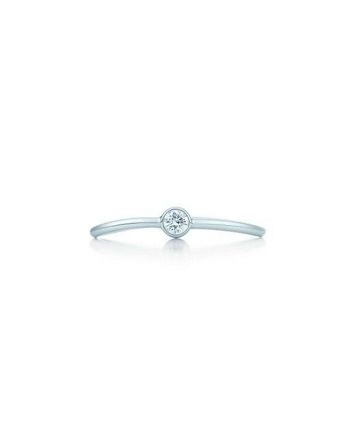 Tiffany & Co - Blue Wave Single-row Diamond Ring - Lyst