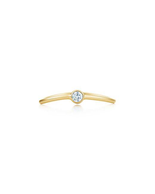 Tiffany & Co | Metallic Wave Single-row Diamond Ring | Lyst