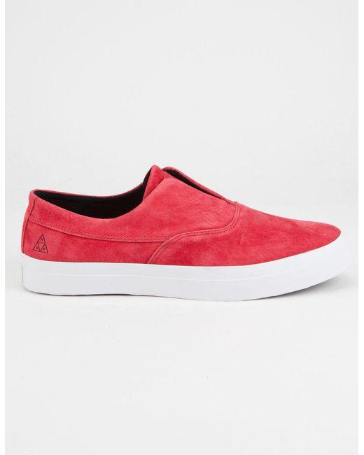 Huf | Red Dylan Slip On Mens Shoes for Men | Lyst