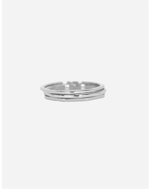 Pura Vida - Metallic 3 Pack Delicate Stacked Rings - Lyst