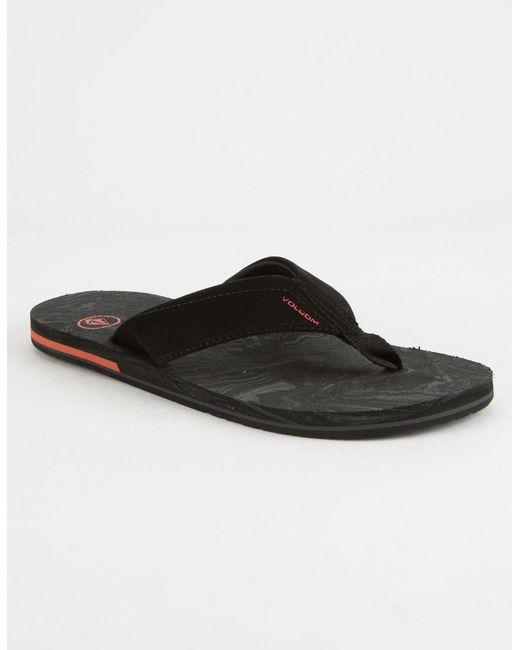 Volcom - Black Victor Mens Sandals for Men - Lyst